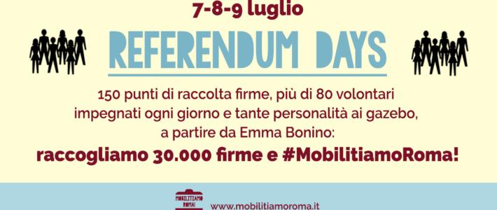 Atac/Sciopero: Via domani a Referendum Days, 150 tavoli in tre giorni per firme su messa a gara TPL. Sabato con Emma Bonino