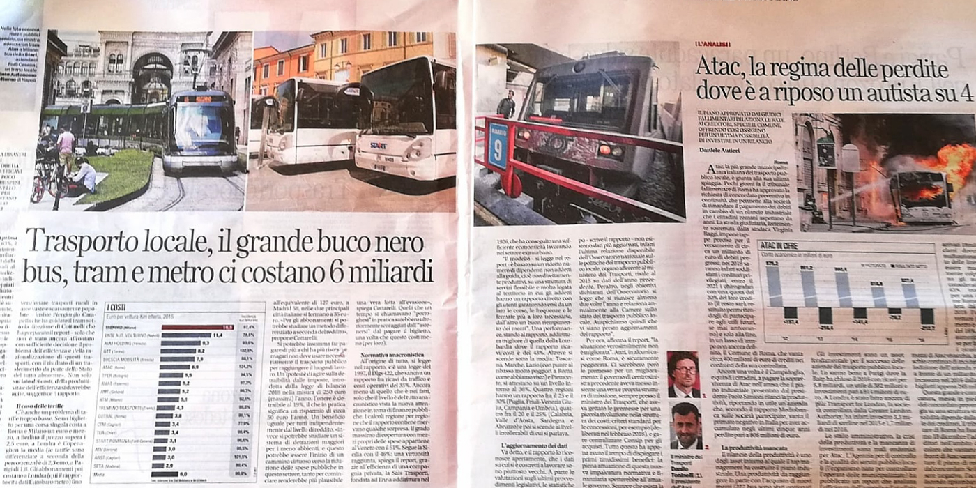 Roma maglia nera del trasposto pubblico