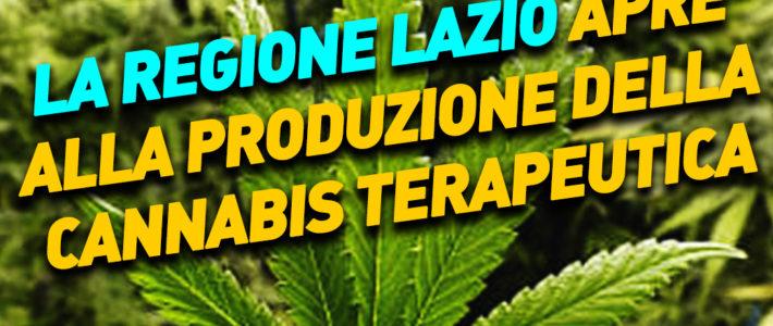 Capriccioli: Regione Lazio apre alla produzione di cannabis terapeutica