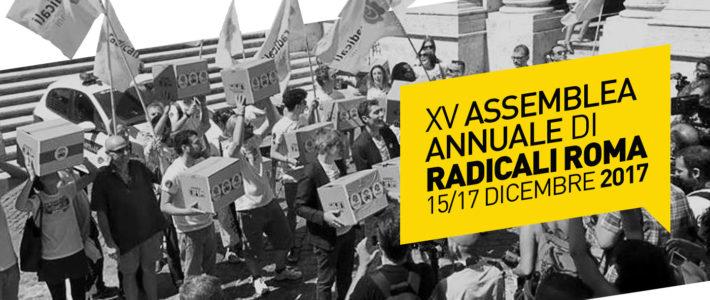 Assemblea annuale Radicali Roma: 15-16-17 dicembre 2017