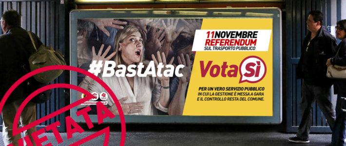 La campagna sul referendum che non vedrete mai in metro