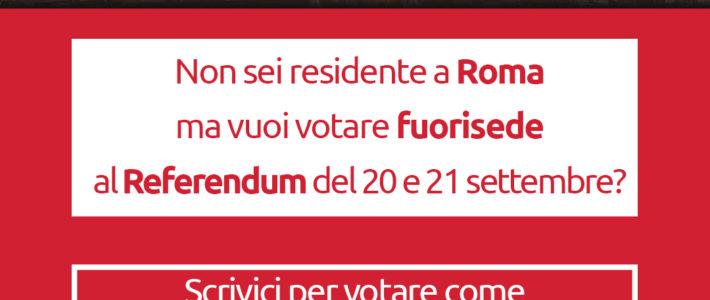 Diventa rappresentante di lista al Referendum del 20 e 21 settembre